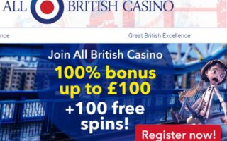 All British Casino: £100 Bonus