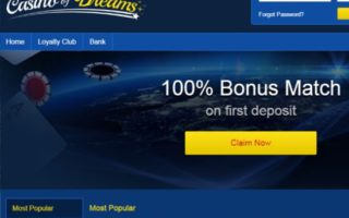 Casino of Dreams: 100% Bonus
