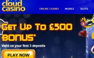 Cloud Casino: £500 Bonus