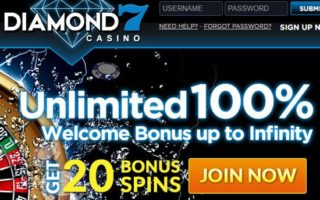 Diamond 7 Casino: 100% Bonus