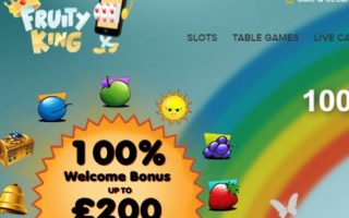 Fruity King Casino: £200 Bonus