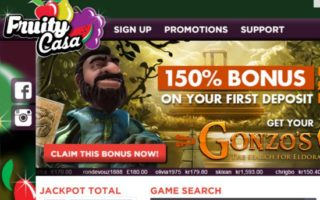 Fruity Casa Casino: £250 Bonus