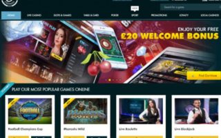 Grosvenor Casino: £20 Bonus