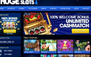 Huge Slots Casino: 100% Bonus