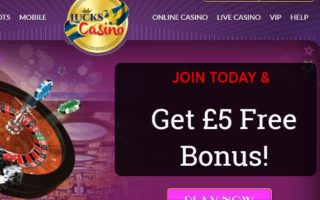 Lucks Casino: £5 Bonus