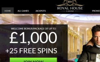 Royal House Casino: £1000 Bonus