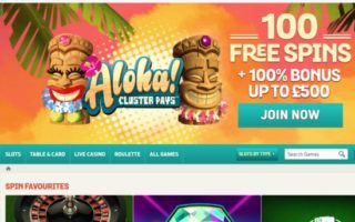 Spin and Win Casino: £500 Bonus
