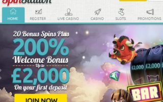 SpinStation Casino: £2000 Bonus
