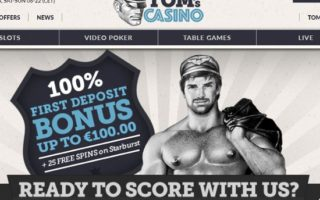 Tom's Casino: £100 Bonus