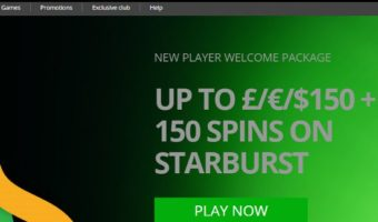 Casino Luck: £150 Bonus + 150 Free Spins