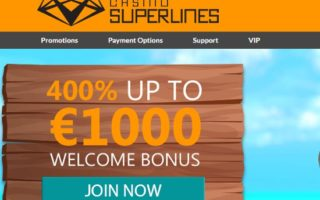 Casino Superlines: £1000 Bonus