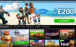Barbados Casino: £200 Bonus + 100 Free Spins